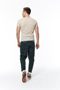 MADOX design - spodnie madoxy zielone z podszewką w koniki