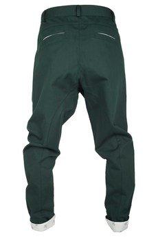 - spodnie madoxy zielone z podszewką w koniki