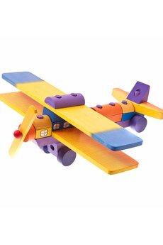 Tarnawa Toys - Samolot z klocków kolorowych- mały