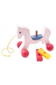 Tarnawa Toys - Konik z klockami do ciągnięcia