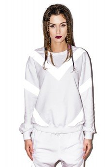- REFLECTIVE SWEATSHIRT WHITE