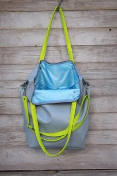 MANA MANA - Worek XXL Waterproof Blue Lime