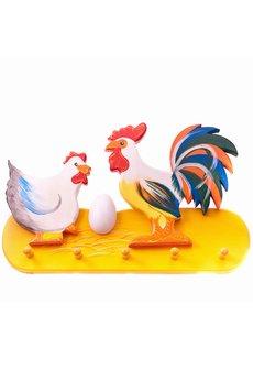 Tarnawa Toys - Wieszak kura, kogut i jajko