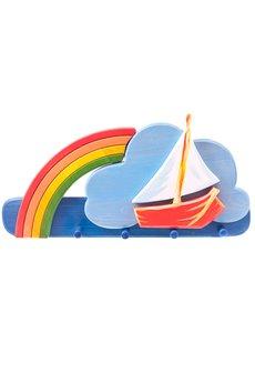 Tarnawa Toys - Wieszak statek z tęczą