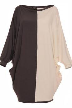 - Sukienka luźna dwukolorowa YY100029