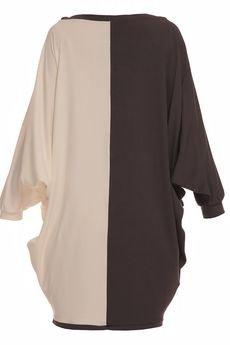 YULIYA BABICH - Sukienka luźna dwukolorowa YY100029