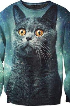 ALOHA FROM DEER - Bluza Blue Cat