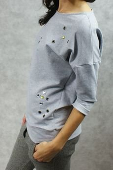 drops - bluza z kryształkami