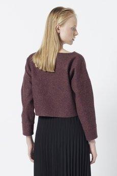 RAW - Bordowa bluza • wełna