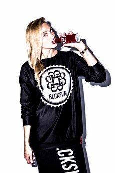 BLCKSVN - Blouses - Black/WhiteSwan Logo