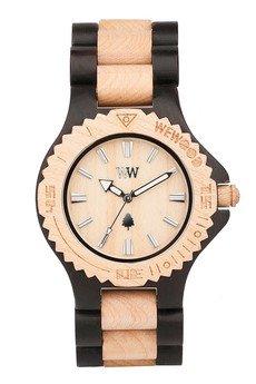 - drewniany zegarek WeWood DATE BLACK/BEIGE