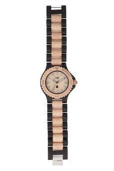 xxx-WeWood - oryginalne drewniane zegarki - drewniany zegarek WeWood DATE BLACK/BEIGE