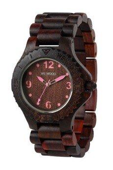 WeWood - oryginalne drewniane zegarki   - drewniany zegarek WeWood KALE CHOCO/PINK