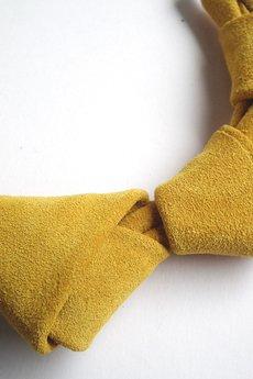 Mikashka - Naszyjnik skórzany żółty LOOPed