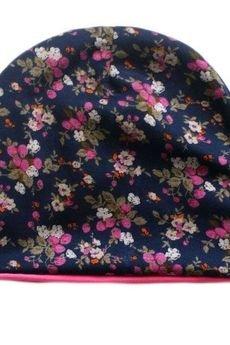 drops - czapka w kwiaty