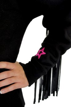EVC DSGN - EVC DSGN / bluza z frędzlami Wanted SWTR_czarna