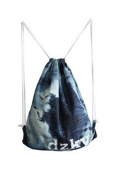 DZKY. by maciek sieradzky. - plecak/worek jeans odbarwiany