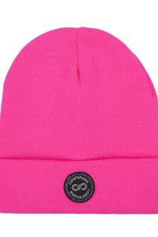 - Czapka zima pink neon