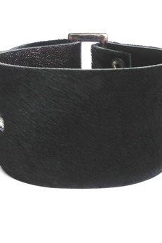 Mikashka - Bransoletka skóra czarna BUCKle