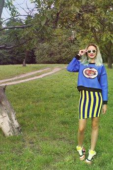 MissSpark - Bluza BOTANICAL z lisem