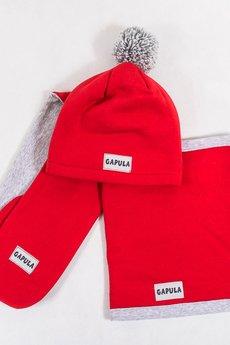 Gapula - Szaliczek zimowy dwukolorowy czerwony