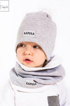 Gapula - Kominek dwustronny zimowy jasny szary