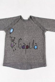 Gapula - Bluzeczka na długo rękaw z malowanym logo