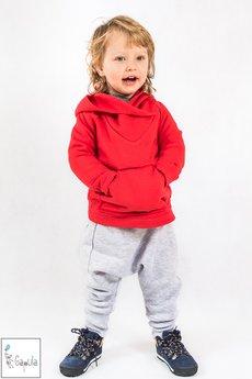 Gapula - Bluza z przeszyciami i kapturkiem czerwona