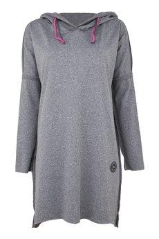 COLORSHAKE - Sukienka szara w pióra