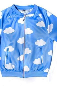 LA PSYCHE - ALL CLOUDS VARSITY JACKET