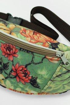 cherrish - Saszetka CHERRISH Zielone kwiaty