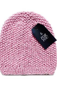 The ADVENTURE Begins - różowa czapka z wełny merino