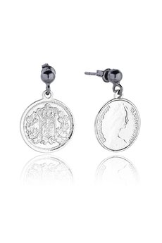 Joccos Design - Royal Coin Earrings in Silver