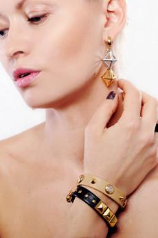 Joccos Design - Pyramid Earrings