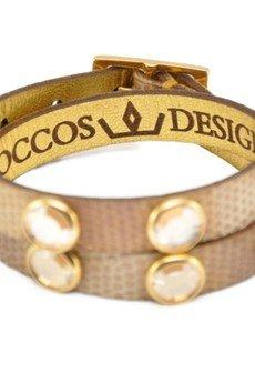 Joccos Design - Double Wrap Gold Python with Stones Bracelet