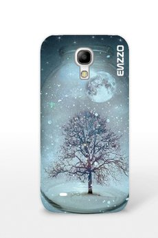 ENZZO - Etui do Samsung S4mini Winter tree+chusteczka z mikrofibry