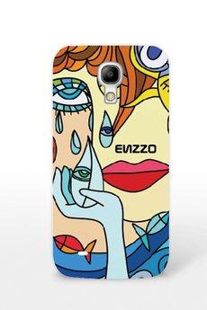 """ENZZO - Etui do SamsungGalaxyS4Mini""""Dali""""l+chusteczka z mikrofibry"""