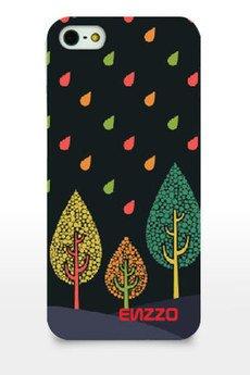 ENZZO - Etui do iPhone4/4s Colour leaves+folia+chusteczka z mikrofibry