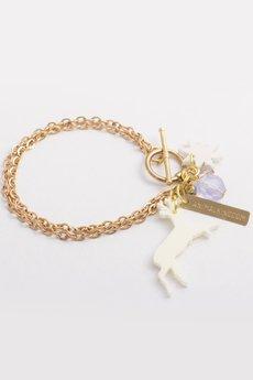 - Bransoletka Animal Kingdom z jelonkiem i gwiazdą kość słoniowa