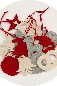 BOOGIE  - X-MAS kpl.10 zawieszek świątecznych