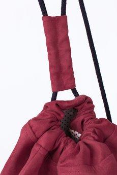 Borba - Wiśniowy Plecak Zamszowy