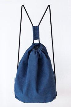 - Granatowy Plecak Zamszowy