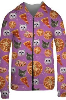 Mr. Gugu & Miss Go - Pizza Cat hoodie