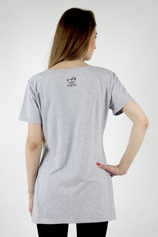 Frifru - Jasno-szary t-shirt long
