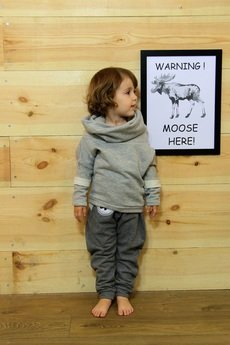 Loose Moose- fashion for Loose kids - Gray For A Day- bluza szara