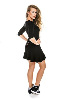 - Holly Zip Black Dress