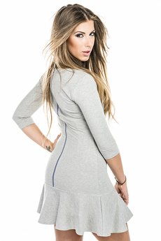 Love In A Mist - Holly Zip Back Grey Dress