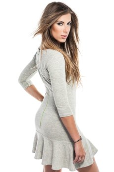 Love In A Mist - Holly Zip Back Grey Fluo Dress