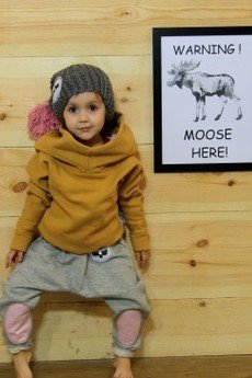 Loose Moose- fashion for Loose kids - spodnie Modern Moose szary/róż