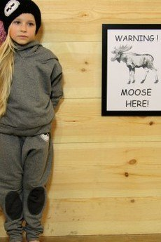 Loose Moose- fashion for Loose kids - spodnie Modern Moose grafit/grafit